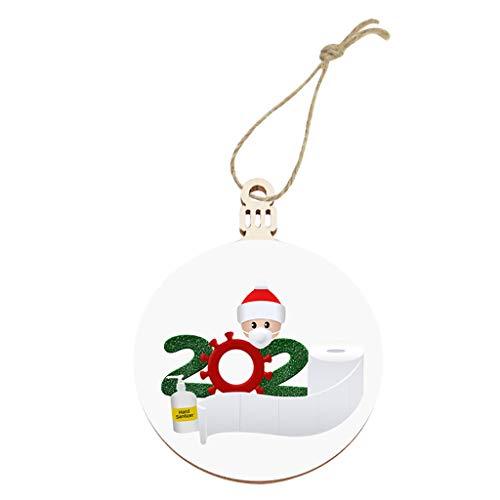Dergo 2020 New Christmas Tree Decoration Lighted Pendant Faceless Old Man Pendant Decoration & Hangs