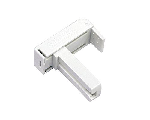 GARDINIA Universal Klemmträger für Rollos und Jalousien, 2 Stück, Montage ohne Schrauben und Bohren, Weiß, Kunststoff, Verstellbereich 6-30 mm