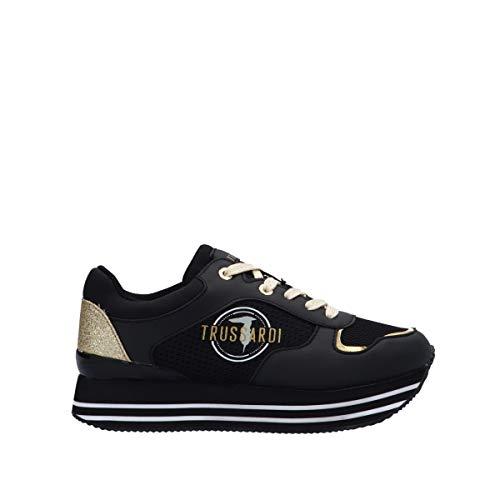 Trussardi Jeans 79A00472 Sneaker Schwarz - Frühling Sommer, Schwarz - Schwarz - Größe: 39 EU
