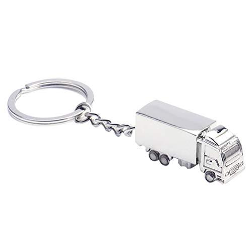 BESTOYARD LKW Form Schlüsselanhänger Ringe Legierung Schlüsselanhänger Handtasche Decor Mini LKW Hängen Anhänger für Handtasche Tasche Schlüsselanhänger 5 Stücke