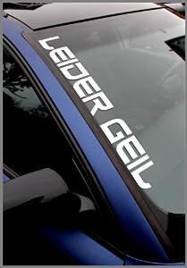 """Stickerbude24 – Pegatina para luna delantera (texto en alemán """"leider geil"""", 55 cm, 2 unidades)"""