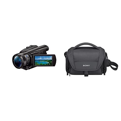 """Sony FDR-AX700 4K HDR Ultra-HD-Camcorder (1 Zoll Exmor RS Stacked Sensor, 3,5"""" Touch-Display, 4K HDR Aufnahme) schwarz & LCS-U21 Universal-Tasche für Handycam, Alpha und Cybershot Kameras"""