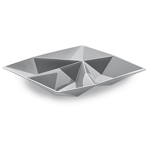 Koziol 3659632 Coupelle pour Amuse-Gueule Kant Gris, Plastique, 19,1x19,1x2 cm