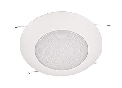 NICOR Lighting 6-Inch Lexan Shower Trim with Albalite Lens, White (17505)