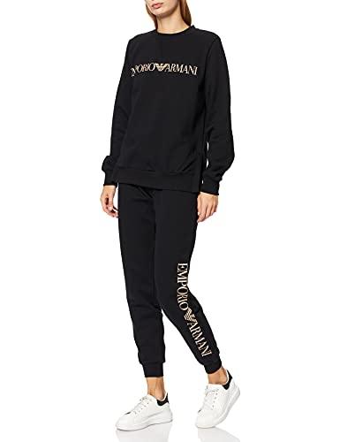 Emporio Armani Underwear Iconic Terry Maglione + Pantaloni, Black, M da Donna