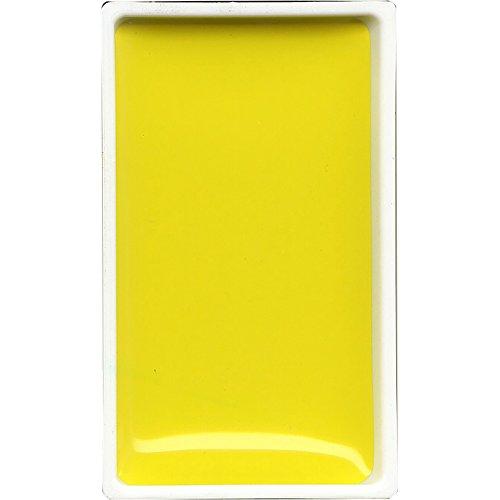 Kuretake: Gansai Tambi japonesa Acuarela: Amarillo limón: Gran Pan