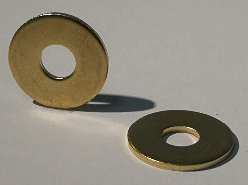 15 Stück große Messing Unterlegscheibe DIN 9021 / Messingbeilagscheibe, groß (Messing, M8)