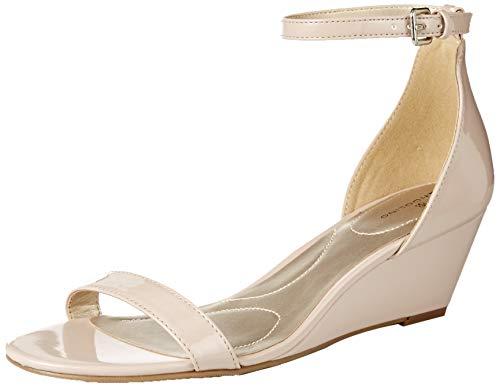 Bandolino Footwear Women's Odear Wedge Sandal, Natural, 8.5