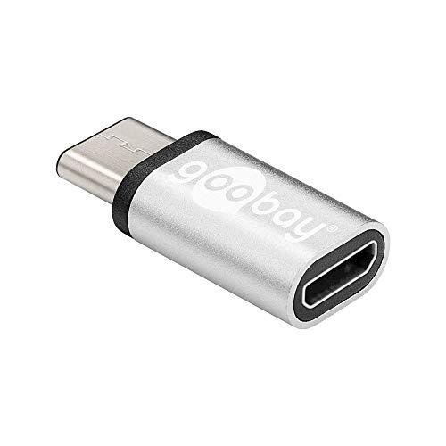 Goobay 56636 Adattatore da USB-C a USB 2.0 Micro Tipo B, Argento