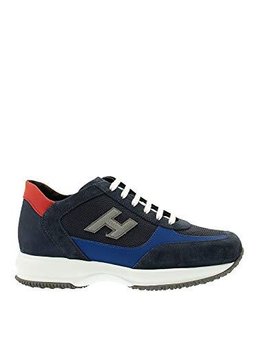 Hogan Sneakers Uomo Modello Interactive H Flock Blu 43½
