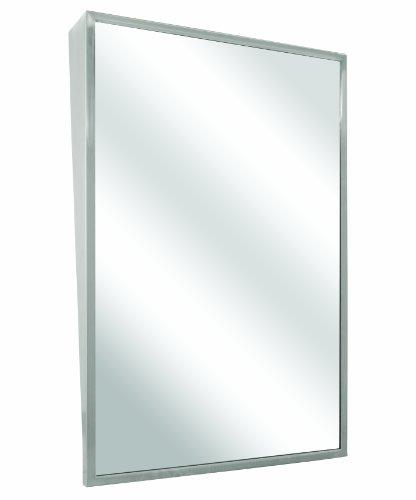 Bradley 740-018300 Float Glass Fixed Tilt Mirror with Welded Corners, 18' Width x 30' Height