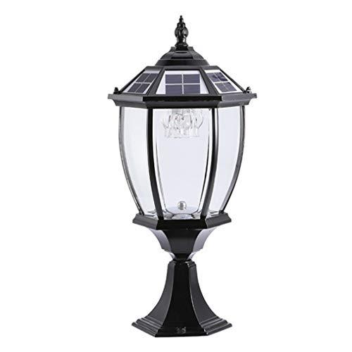 ZMLG Luz De Farola Solar, Lámpara De Sobremuro para Exterio