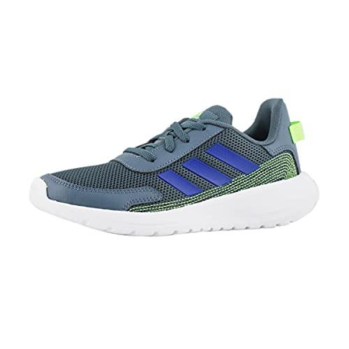 adidas Tensaur Running Shoe, Legacy Blue/Team Royal Blue/Green, 10.5 US Unisex Little Kid