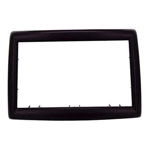 CLEIO 2 DIN-Adapter-CD-Trimm-Panel-Stereo-Schnittstelle Radio-Auto-Rahmen-Panel Faszien Fit für Renault Megane II 2003-2009 (Color Name : Black)