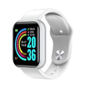 Smartwatch, Fitness Armband, Fitness Tracker, Smart Watch D20, Y68 Wasserdicht, Fitness Uhr mit Pulsmesser, Schrittzähler, Armbanduhr, Sportuhr für iOS Android (Weiss)
