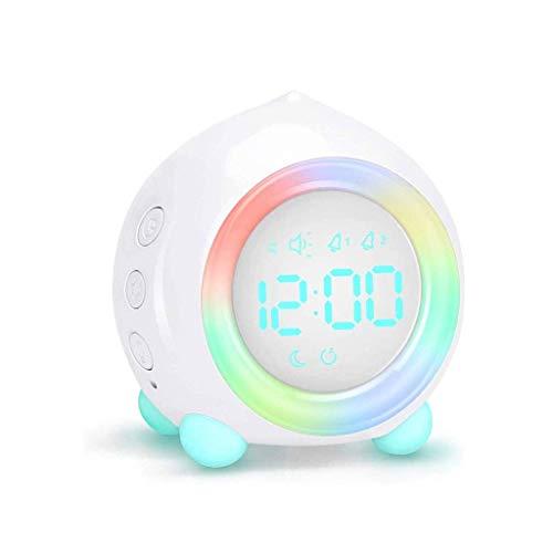 BSJZ Reloj con luz Nocturna Decorativa Reloj Despertador Doble Función de repetición fácil Modo de atenuación Reloj Despertador para niños Reloj Alimentado por USB p