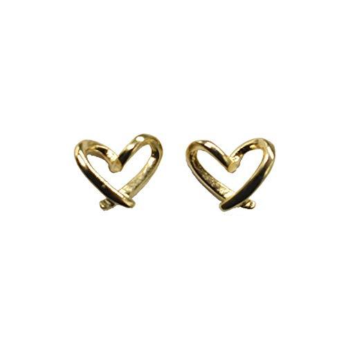 Paar S925 Silber Nadel Liebe Ohrringe weibliche einfache kleine 2020 ins Trend Netto Temperament rote Ohrringe Mode (Color : Pair of S925 Silver pins)