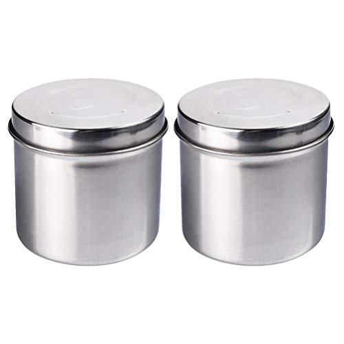 Exceart 2St 9Cm Roestvrijstalen Medische Pot Spons Katoenen Dressing Container Voor Professioneel Persoonlijk en Arts Gebruik
