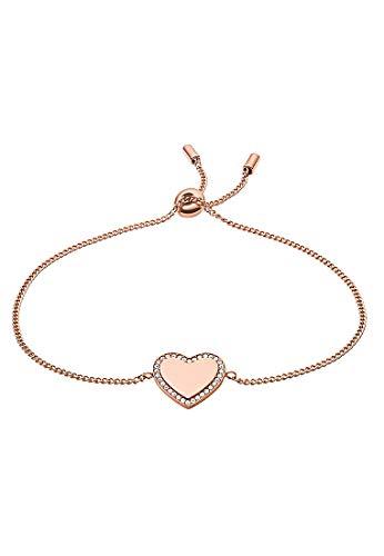 Fossil Damen-Armband Herz Be Mine Edelstahl roségold JF03361791