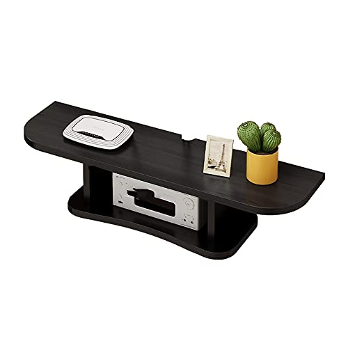 Peakfeng Gabinete de TV, TV Baja, estantes flotantes, TV Montaje TV Console, 60/80 cm Panel de Cuatro Colores, estantes de la Caja de Top de Madera, Espacio para Guardar el Piso y fácil de Limpiar.