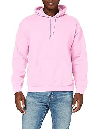 Gildan Heavyweight Hooded Sweatshirt Sudadera con Capucha, Rosa (Light Pink), S para Hombre