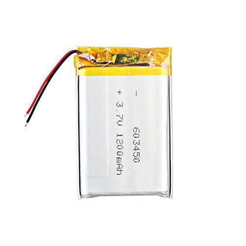 3.7v 1200mAh 603450 Batería de polímero de Iones de Litio de Litio...