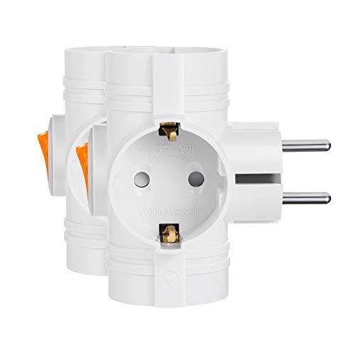 Mehrfachsteckdosen 3 Steckdosen Kabellose Steckdose mit Schalter für Auslöse- und Speicherplatz 3500W (2)