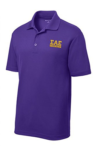Sigma Alpha Epsilon SAE Greek Letter Polo's Large Purple