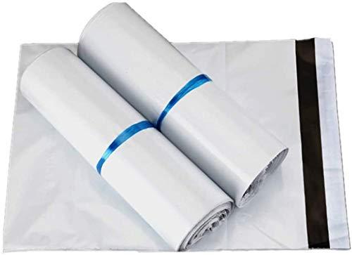 100 Bolsas plástico para envíos Bolsas para Envíos Sobres de Postales Plástico de Genérico Envío por correo Autoadhesivas Embalaje Sobres para Postales Blanco (20*35CM)