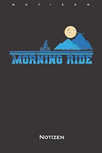 Fahrradtour im Gebirge bei tief stehender Sonne Notizbuch: Punkteraster Notizbuch für alle, die den Sonnenaufgang und Sonnenuntergang lieben