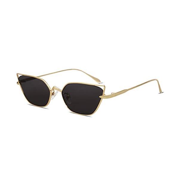 SOJOS Small Cateye Sunglasses Fox Idea Designer Sunnies Fire SJ1127