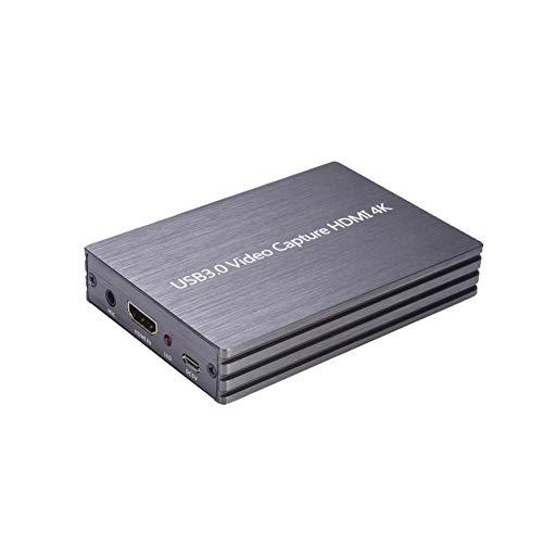 luminiu Adaptador de vídeo 4K HDMI USB 3.0 1080P RCA a HDMI, compatible con 1080P con cable de carga USB
