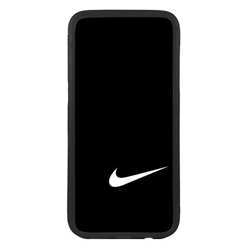 afrostore Custodia cover per Apple iPhone 5c Logo Nike Logo Bianco TPU Bordo Nero