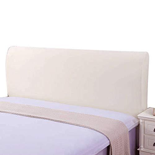 ZWDM Backrest Slip for Headboards Bedroom Decor Washable (Color : Beige, Size : 190-210x60x30cm)
