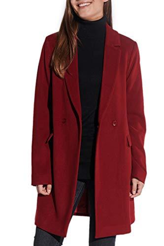 Vestino dames wollen mantel reverskraag pattentzakken lichte A-lijnvorm NIEUW