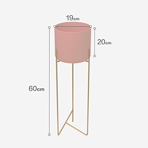 Stand d'usine Cadre de fer minimaliste Présentoir de fleurs Simple Design de mode moderne pour votre intérieur Décoration de salon extérieur Blanc, vert, rose en option Étagère à fleurs à plusieurs ni
