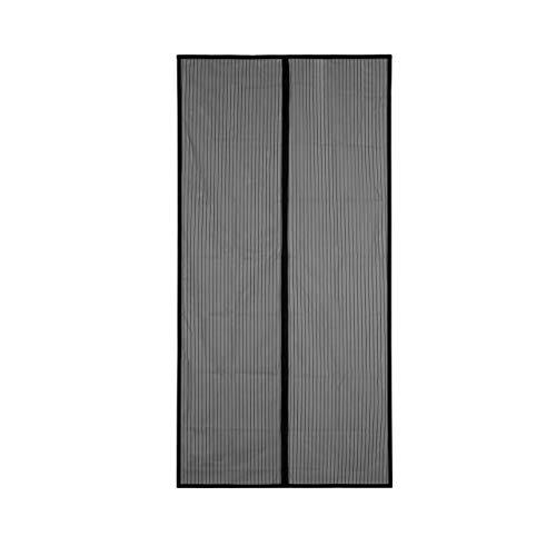 Cortina mosquitera magnética para puerta de balcón, 120 x 240 cm, Blanco