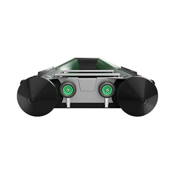 Ruedas de botadura SUPROD HD200, acero inoxidable A4 (C (negro/verde)) 1