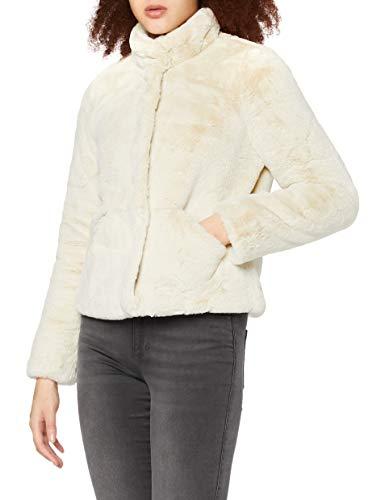 ONLY Damen Onlvida Faux Fur Jacket Otw Noos Jacke, Pumice Stone, XL EU