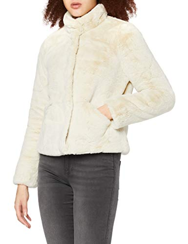 ONLY Damen Onlvida Faux Fur Jacket Otw Noos Jacke, Grau (Pumice Stone Pumice Stone), M EU