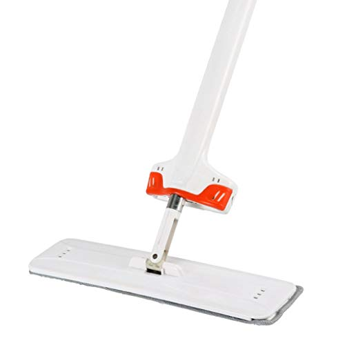 Review QYLSH Leveling Floor Mop 360 ° - with Microfiber Dust Mop, The Mop Pad with A 38cm Thick Sta...