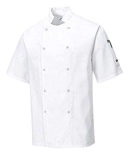 Portwest C733WHRXL Chaqueta de Chef, Cumbria , XL, Blanco (White)