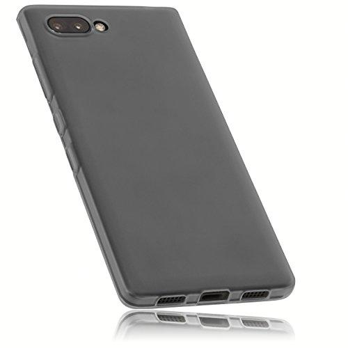 Mumbi Coque de protection pour BlackBerry Key2 Noir transparent
