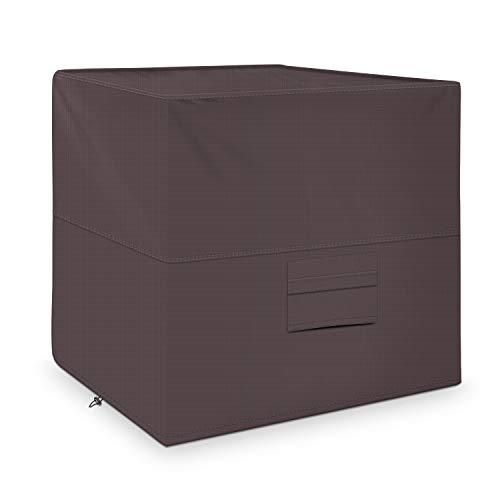 iCOVER Air Conditioner Cover for Outside Units 34 x 34 x 30 inches Heavy Duty Premium 600D Water Proof Ripstop Fabric - Outdoor Square AC Covers