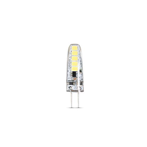 Feit Electric BP20G4/850/LED/6 2W 20W Equivalent Dimmable 170 Lumen Bi-Pin 12V LED G4 Base Capsule Specialty Light Bulb, 1.5' H x 0.5' D, 5000 (Daylight), 6 Piece