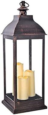 Lantern Flmlss Blk Pewtr