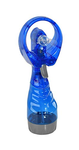 Home-X Battery-Powered Personal Misting Fan, Plastic Spray Water Bottle with Mini Fan