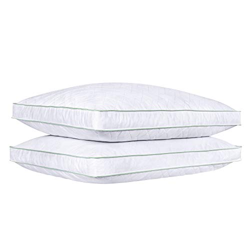 puredown Goose Down Feather Pillows Bed Pillows for Sleeping 100% Natural Cotton Cover Set of 2 Standard/Queen Size