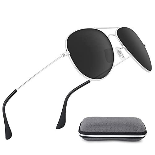 Hippodance Gafas de Sol Hombre Mujer UV400 Protección Gafas de Sol Polarizadas YH-001