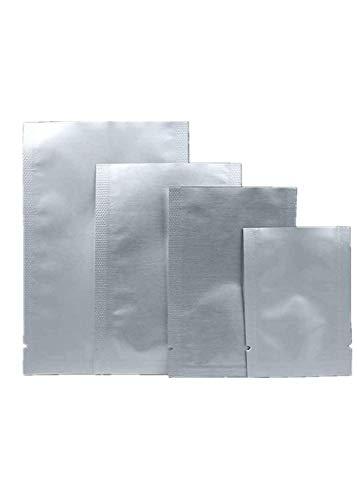 Guangcailun 100PCS de Plata del Papel de Aluminio Mylar Bolsa de vacío Paquete Almacenamiento de Seguridad Alimentaria sellador